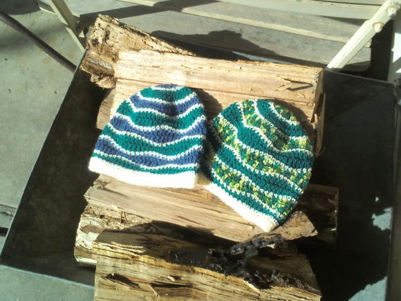 crochet beanies 1 + 2 - by rita summers april 2013