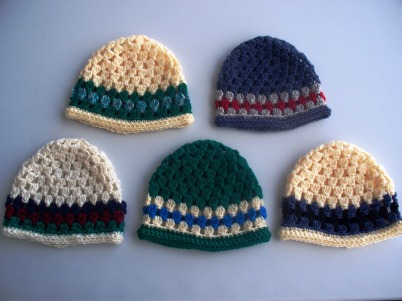 stitchedupmama - baby beanies, group