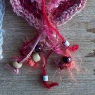 freeform crochet - heart and flowers, detail 2 - rita summers 2013