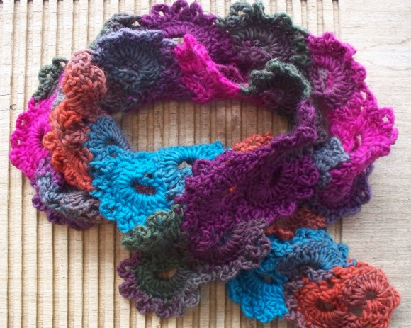 queen anne's lace scarf 2c - rita summers - 2013