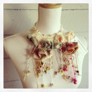 fibre art neckpiece 1, by stitchedupmama (alias rita summers)