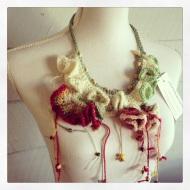 fibre art neckpiece 2 - stitchedupmama